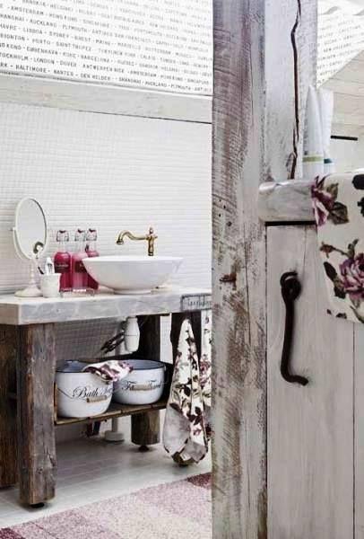 Manejemos los cambios con alegria y tranquilidad Rustic country style bathrooms