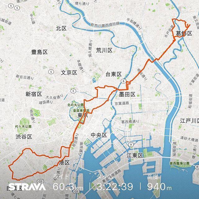 ポタリング 60.3km3時間22分17.9km/h1591kcal 新しいシューズでポタリングマルチモードのクリートは着脱が楽で気に入った #自転車 #ポタリング