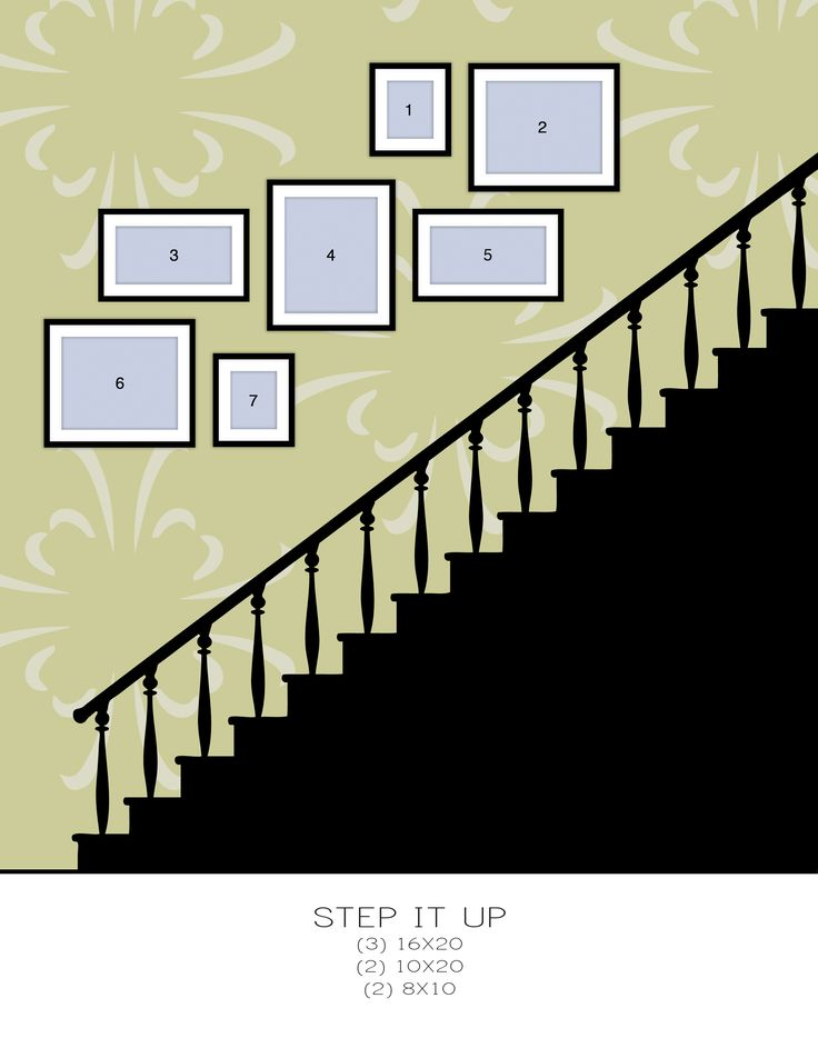 Best 25 stair gallery wall ideas on pinterest stairway for Template for hanging pictures