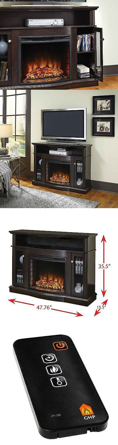 Fireplaces 175756: Electric Fireplace Heater Media Console Tv Stand Living Room Furniture Storage -> BUY IT NOW ONLY: $240.79 on eBay!