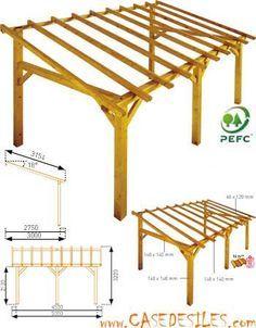 Structure de carport en bois 15mc Sherwood à Prix Plancher