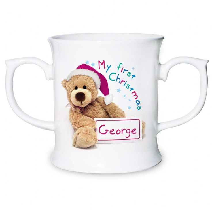 Personalised Teddy My First Christmas Loving Mug from Creative Gifts uk