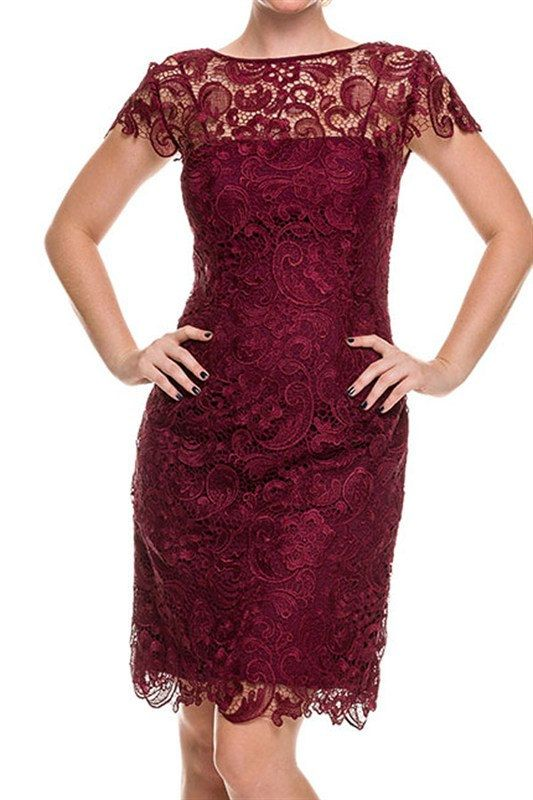 Crochet mauve burgundy wine champagne gold midi lace for Burgundy and gold wedding dress