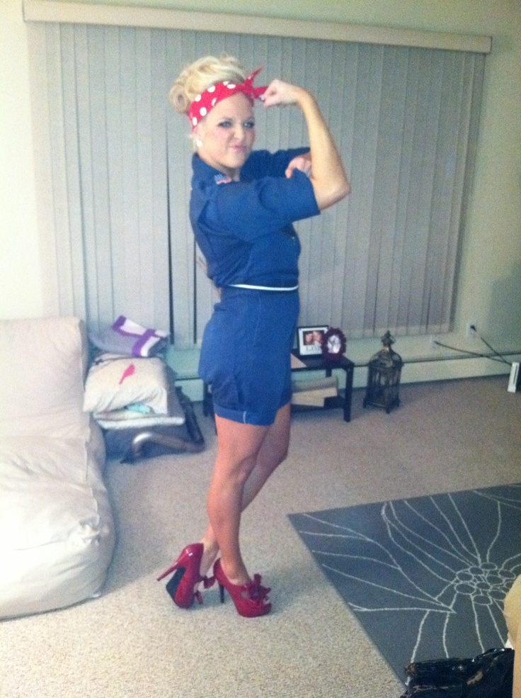 my homemade halloween costume rosie the riveter best one yet - Rosie The Riveter Halloween Costume