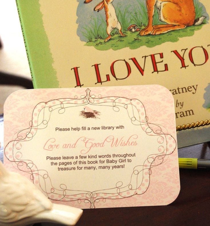 love this idea of the guests writing to the baby in books for building the babyu0027s