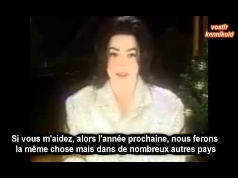 Michael JACKSON message Noël 2002 SOUS TITRES FRANCAIS - YouTube
