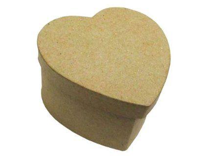 Papel Mache Unfinished Kraft Mini Corazón Box 2,75 & quot;  X 2.75 & quot;  X 1.5 & quot;  (Paquete de 6 cajas)
