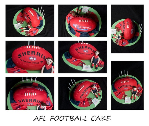 Melbourne Demons AFL Football Cake