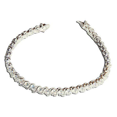 Silver, Zircon, Handmade Link Bracelet 7.5 inches, Shines like Fine-cut Diamonds ShalinIndia,http://www.amazon.com/dp/B001QIWJ04/ref=cm_sw_r_pi_dp_.ZIysb05SVGYEH1D