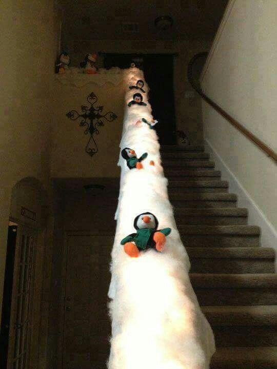 Treppengeländer Pinguine Rutsche... nächstes Jahr dann :)