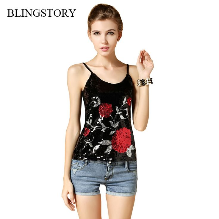 >> Click to Buy << BLINGSTORY Hotsale! Europe high quality sequin flower paillette T-shirts women lady tops tees roupa de ginastica feminina #Affiliate