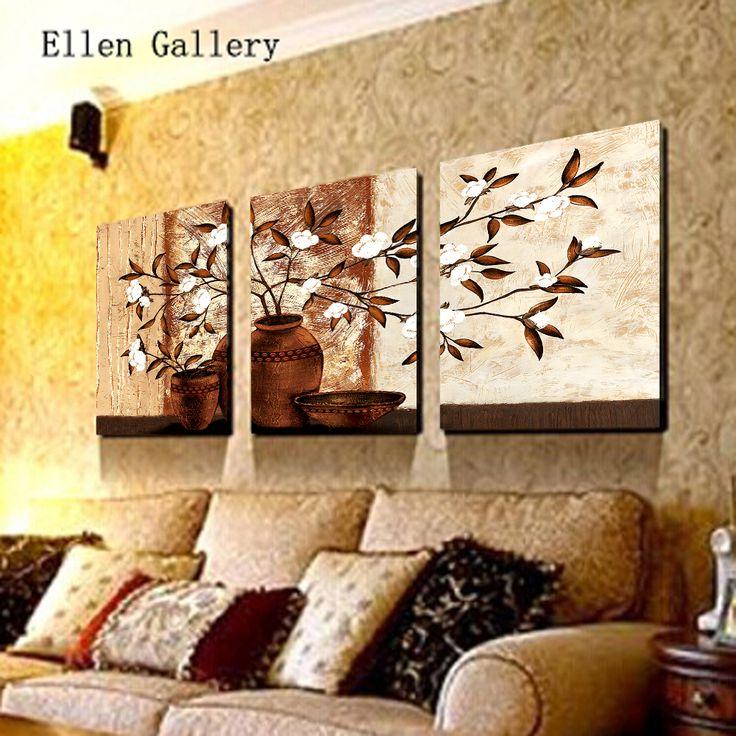 Flores en un florero pared Flower Painting Canvas Paintings pared Pictures para sala de estar Cuadros decoración Quadro imagen No Frame(China (Mainland))
