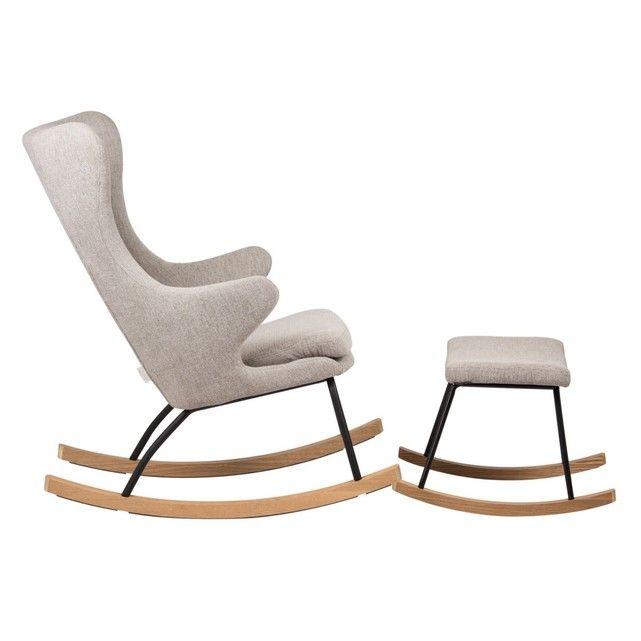 Tabouret Pour Rocking Chair Sable Gris Quax La Redoute Fauteuil Allaitement Chaises Bercantes Modernes Rocking Chair