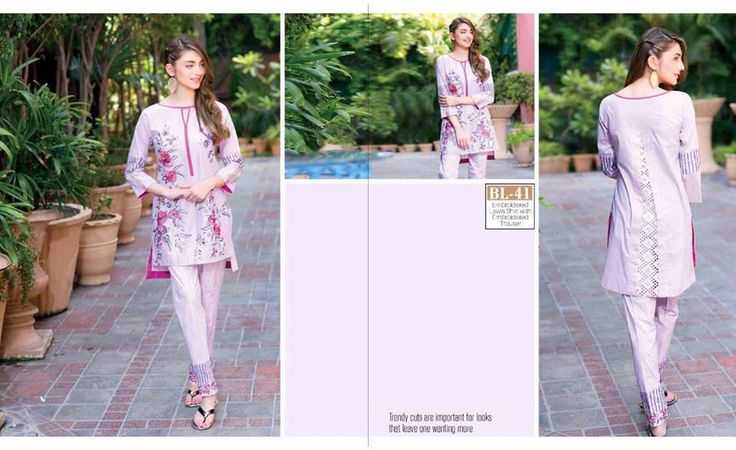 #Womens #Fashion #Pakistani #Designer #Suits #Haute #Couture for #work - #Pink #Shirt #Pink #Bottom #Embroidered #premium #lawn #Kurtis