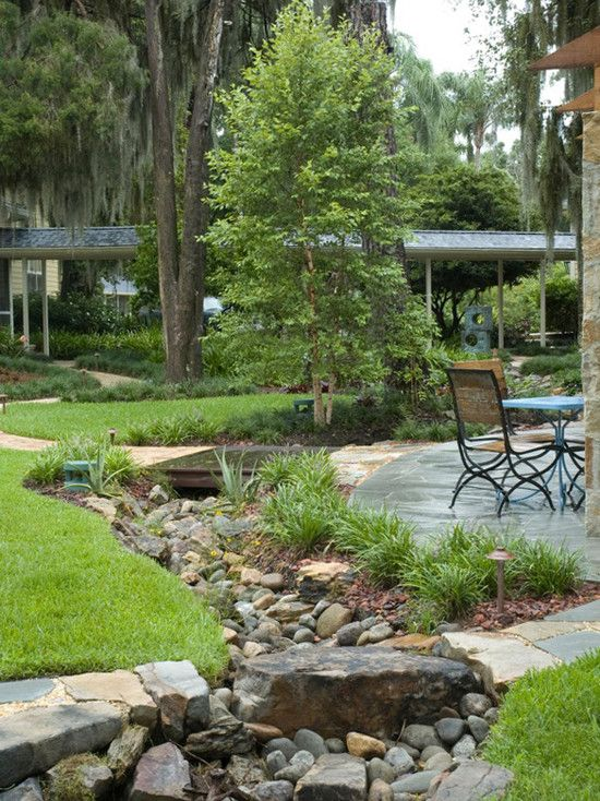 17 images about dry creek bed on pinterest river rocks for Dry landscape design