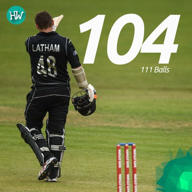 Tom Latham was phenomenal with the bat, racking up a superb 100 to give New Zealand an unbeatable score! #IREvNZ #IRE #NZ #cricket