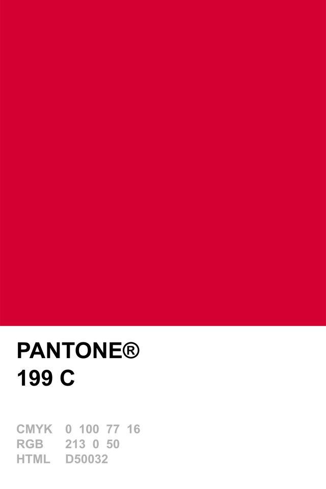 Pantone 199 C Colour Recipes Pinterest