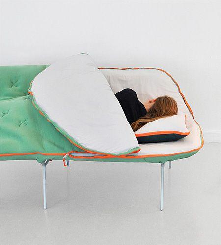 Sleeping Bag Sofa by Stephanie Hornig