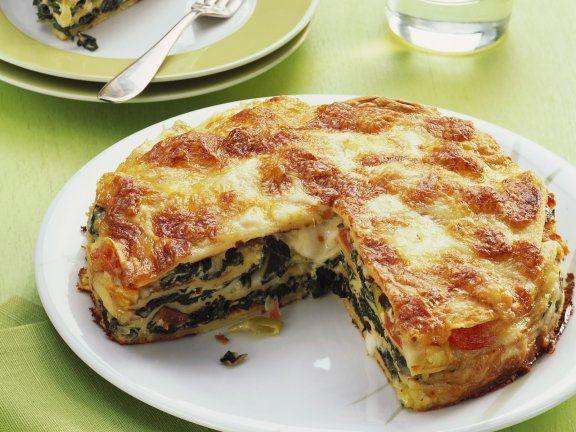 Rezept: Pfannkuchenauflauf mit Mangold