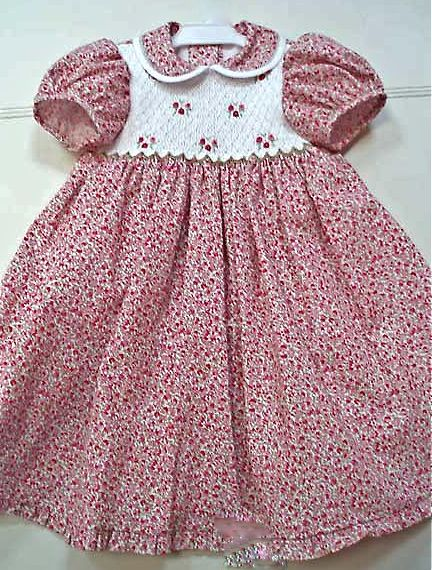 hand smocked child's dress