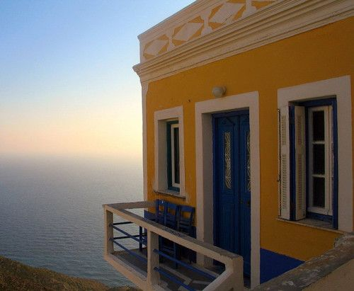One of the many traditional houses in the village of Olympos in the Dodecanese island Karpathos