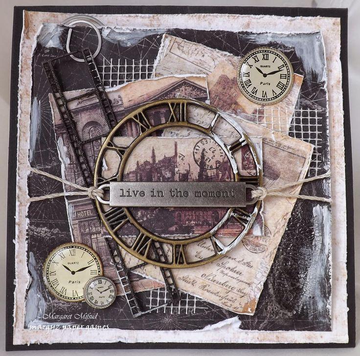 Masculine Card - PRIMA CARTOGRAPHER - by Margaret Mifsud