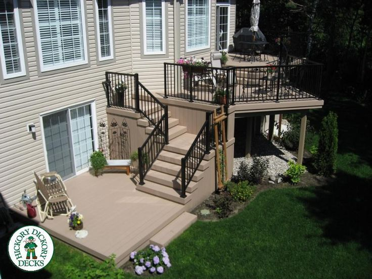 With AZEK Decking And Low Maintenance Rails, This Multilevel Deck Design  Offers Three Levels Of