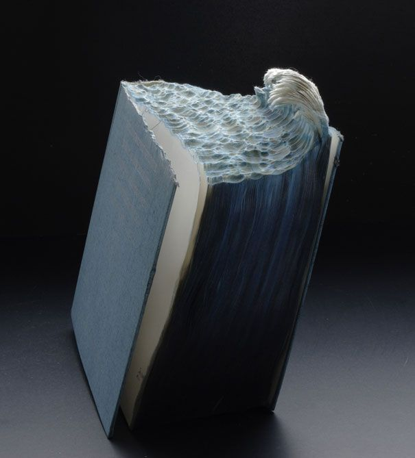 Im utterly amazed at the skill and creativity people have: Carved Book Landscapes by Guy Laramee | Bored Panda