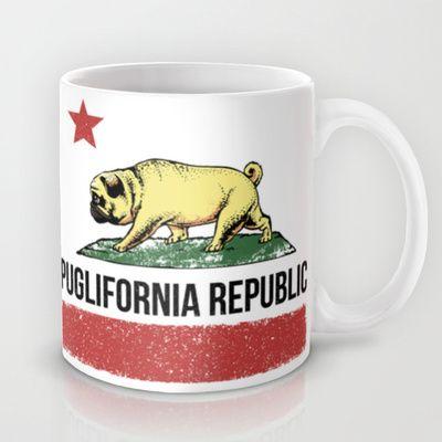 Puglifornia Republic Mug by Huebucket - $15.00