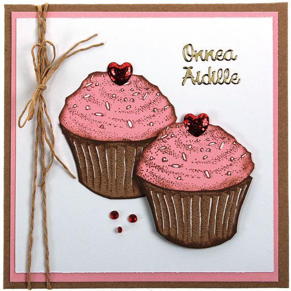Herkulliset muffinssit on tehty leimailemalla. Ideat ja tarvikkeet Sinellistä!