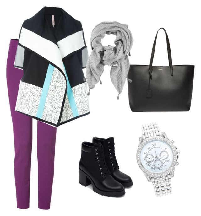 """""""semi casual outfit that suits hijabi women"""" by hanonaa on Polyvore featuring Emilio Pucci, Antonio Marras, Zara, Yves Saint Laurent and Lane Bryant"""