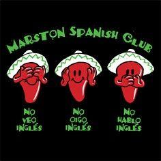 Such a cute idea for a Spanish Club shirt!