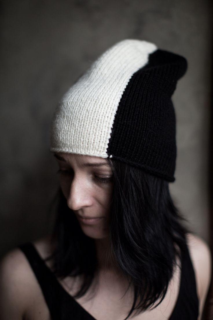 Вязаная шапка ручной работы, осень,  by Lenka