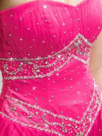 gorgeous hot pink gown: Princesses Dresses, Fancy Dresses, Corsets Prom Dresses, Hot Pink, Pink Pink, Pink Prom Dresses, Prom Ideas, Pink Gowns, Pink Dress