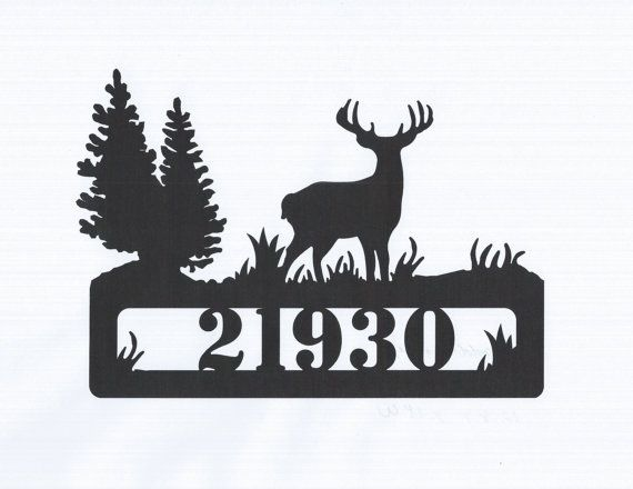 Address Deer Wildlife Outdoors Metal Sign Custom