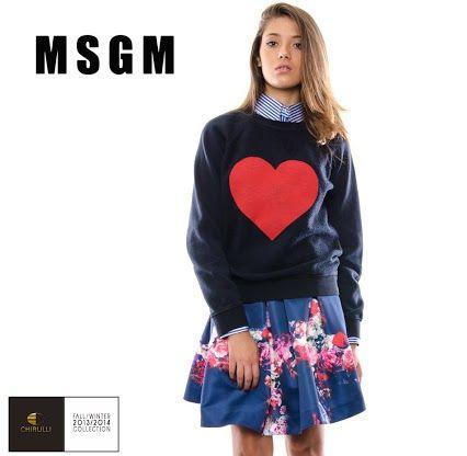 """MSGM - On Line la Nuova Collezione A/I 2013/14 su ChirulliShop.com  In questa collezione predominano """"frizzanti"""" stampe, soprattutto floreali, ma anche abiti stile barocco, tubini, gonne a ruota e giacche.  http://www.chirullishop.com/it/8-nuove-collezioni-ai#/designer-msgm"""
