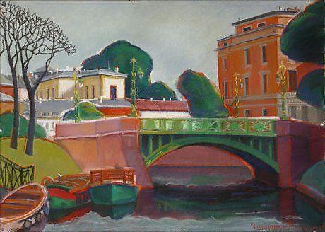 1-й Садовый мост - Изобразительное искусство - Пастель, тушь