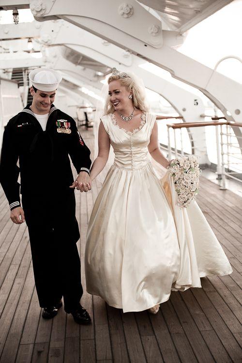 Navy Dress Blues Wedding Cake Topper