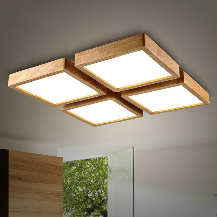new creative oak modern led ceiling lights for living room bedroom lampara techo wooden led ceiling