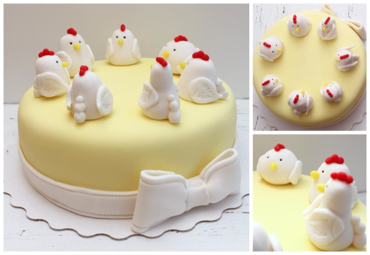 ... Cakes on Pinterest  Farm animal cakes, Chicken eggs and Chicken cake