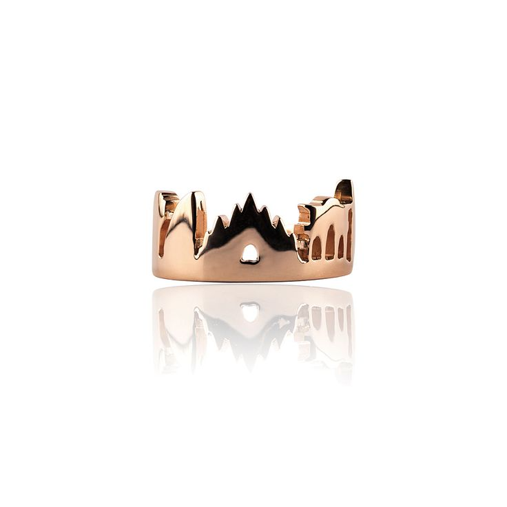 Milan Skyline Ring Silver Pink Gold Plated 18k  Price: 240€ 100% Made in Italy  see more and SHOP online here http://www.preziosajewelry.com/shop-preziosa/en/
