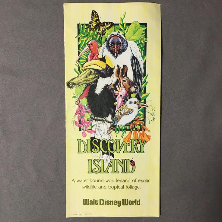 Walt Disney World Discovery Island VTG 1979 Color Trifold Brochure with Map #WaltDisneyProductions