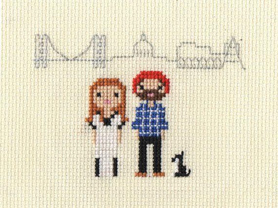 Location / New Home Custom Pixel Cross Stitch by ScarletPyjamas