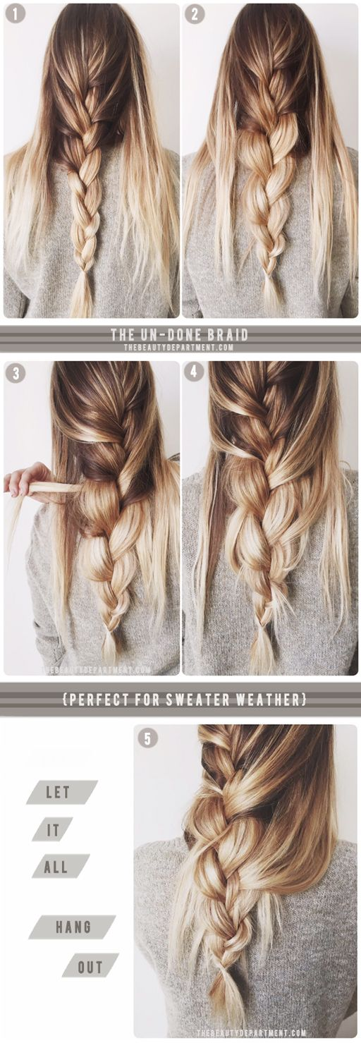 The un-done braid + sweater weather? Yes please.❤
