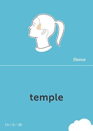 Temple #CardFly #flience #human #english #education #flashcard #language