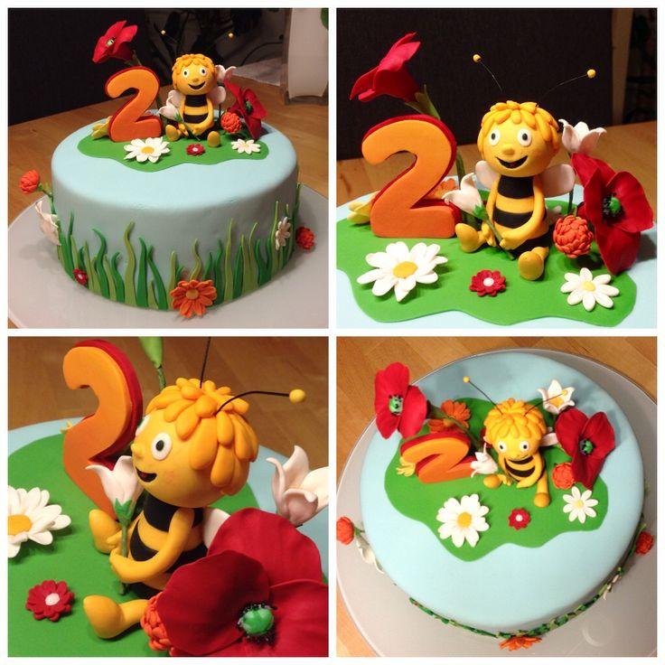 Biene Maja - Torte zum 2. Geburtstag (meine 2. Motivtorte)