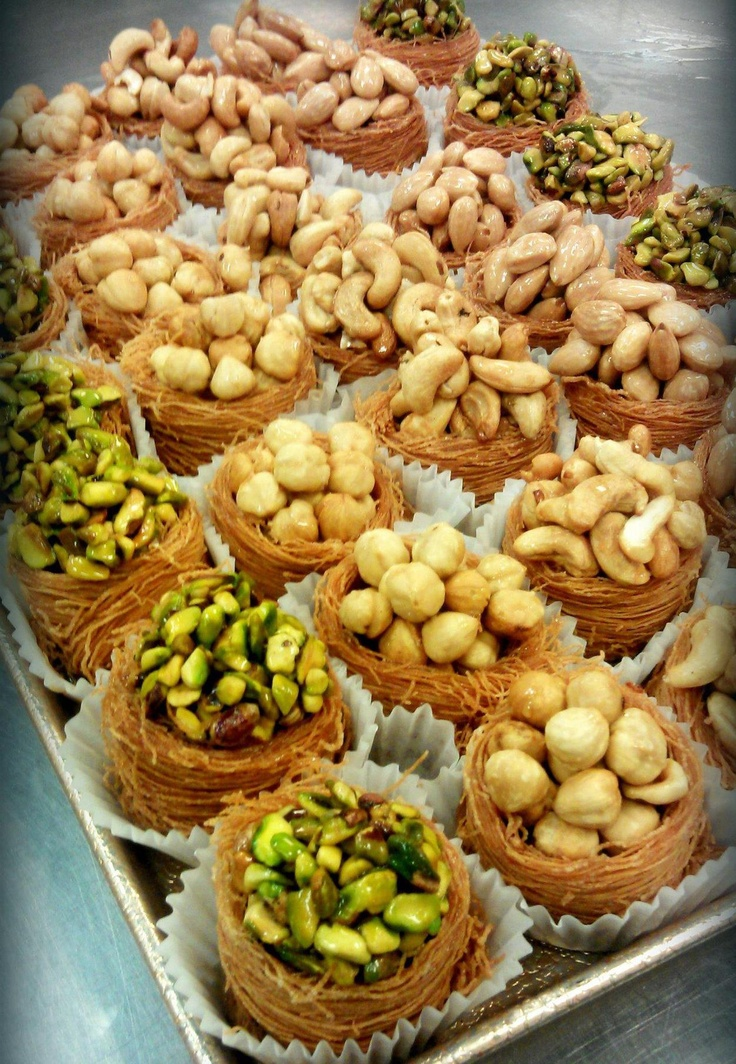 Baklawa filled with pistachios, cashews, pine nuts...delicious