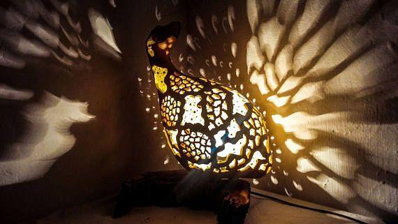 100% HANDMADE Gourd lamp art deco halloween lamp Ottoman