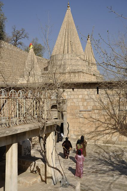 """A Visit to Lalish - Spirtual Home of the Yezidi Faith. From the Wikipedia: """"The Yazidi (also Yezidi, Kurdish: ئێزیدی or Êzidî) are a Kurdish ethnoreligious group with Indo-Iranian roots. They currently live primarily in the Nineveh Province of northern Iraq. Additional communities in Transcaucasia, Armenia, Turkey, and Syria have been in decline since the 1990s, their members having emigrated to Europe, especially to Germany."""