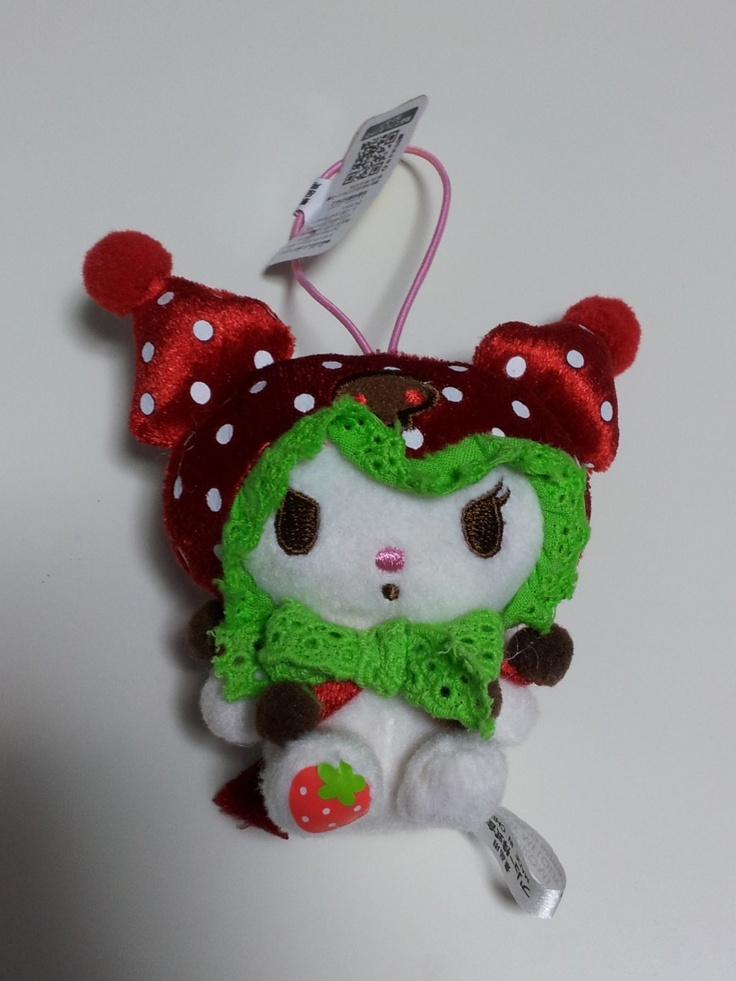 JPLand Stuff - Sanrio My Melody Kuromi Frilly Strawberry Plush Strap, $9.99 (http://www.jplandstuff.com/sanrio-my-melody-kuromi-frilly-strawberry-plush-strap/)